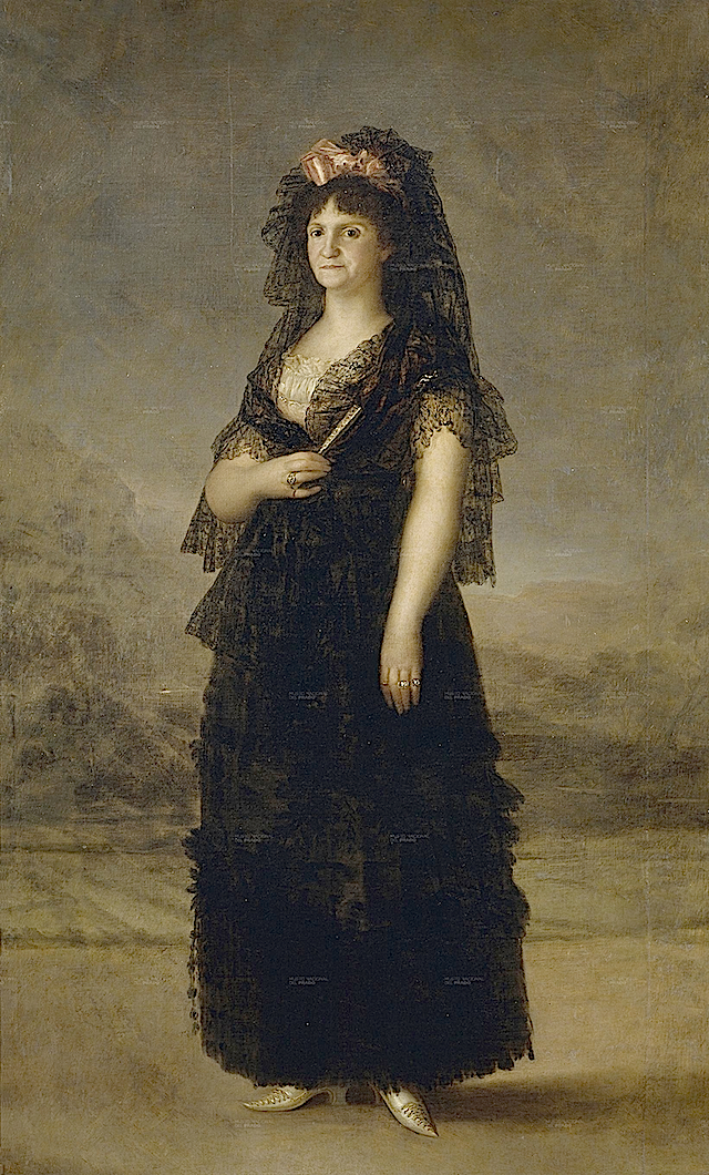 1800 Maria Luisa with mantilla by Francisco Josede Goya y Lucientes (Prado) alta resolucion_
