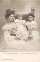 1902 or 1903 Elena with Yolanda (b. 1901) and Mafalda (b. 1902) by Guigoni & Bossi