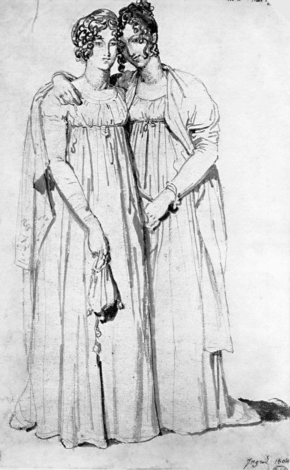 1804 Henriette Harvey And Her Half Sister Elizabeth Norton