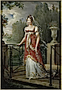 1807 Caroline Murat walking in the gardens of Château de Neuilly by François-Pascal-Simon Gérard (Versailles)