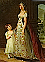 1807 Caroline Murat with her daughter, Letizia by Élisabeth-Louise Vigée-Lebrun (Versailles)