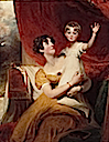 1810-1812 Jane, Lady Orde and her daughter Anna by Sir Thomas Lawrence (Neue Pinakothek, München Germany)