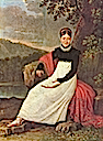 1813 Queen Caroline (Bonaparte) of Naples in the tradiontal costume of a Neapolitean farmer by Giuseppe Cammarano (Museo Napoleonico Rome)