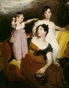 1814 Lydia Elizabeth Hoare, Lady Acland and children by Sir Thomas Lawrence (Killerton - Broadclyst, Exeter, Devon UK)