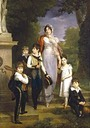 1814 Maréchale Lannes, Duchesse de Montebello with her children by Marguerite Gérard (private collection)