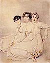 1814 Lady Mary Charlotte Anne Bagot, Emily Lady Harriet Fitzroy Somerset later Lady Raglan, and Lady Priscilla Anne Burghersh, later Countess of Westmorland by Sir Thomas Lawrence (private collection)