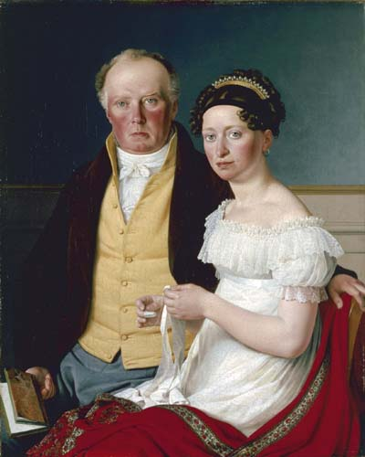 1817 Count Preben Bille-Brahe and his second wife, Johanne Caroline, née Falbe (Ny Carlsberg Glyptotek)