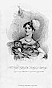 1818 La Belle Assemblee stipple engraving of HRH Duchess Cambridge Princess Augusta