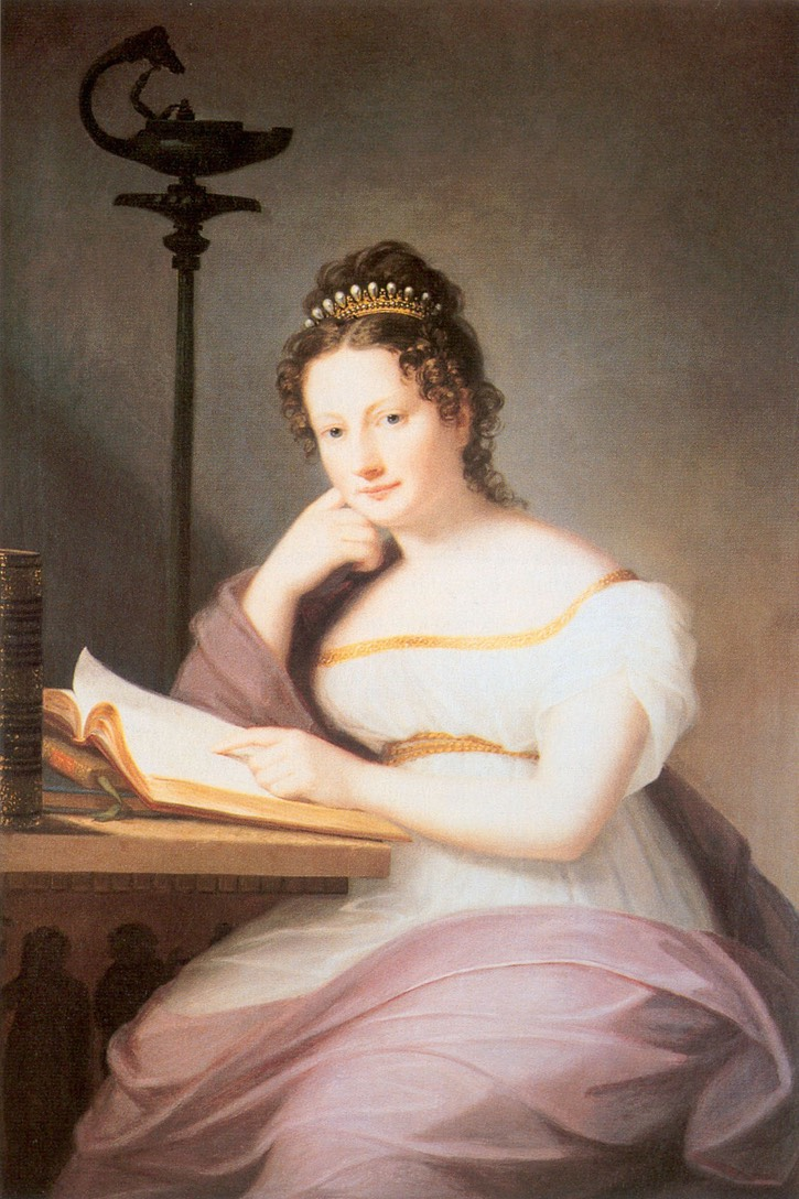 1819 Amalie Christine von Baden (Zähringen), Fürstin zu Fürstenberg by Marie Ellenrieder (Schloß Donaueschingen - ) From books0977.tumblr.com/post/75854394438/portrait-of-amalie-of-baden-1795-1869-princess