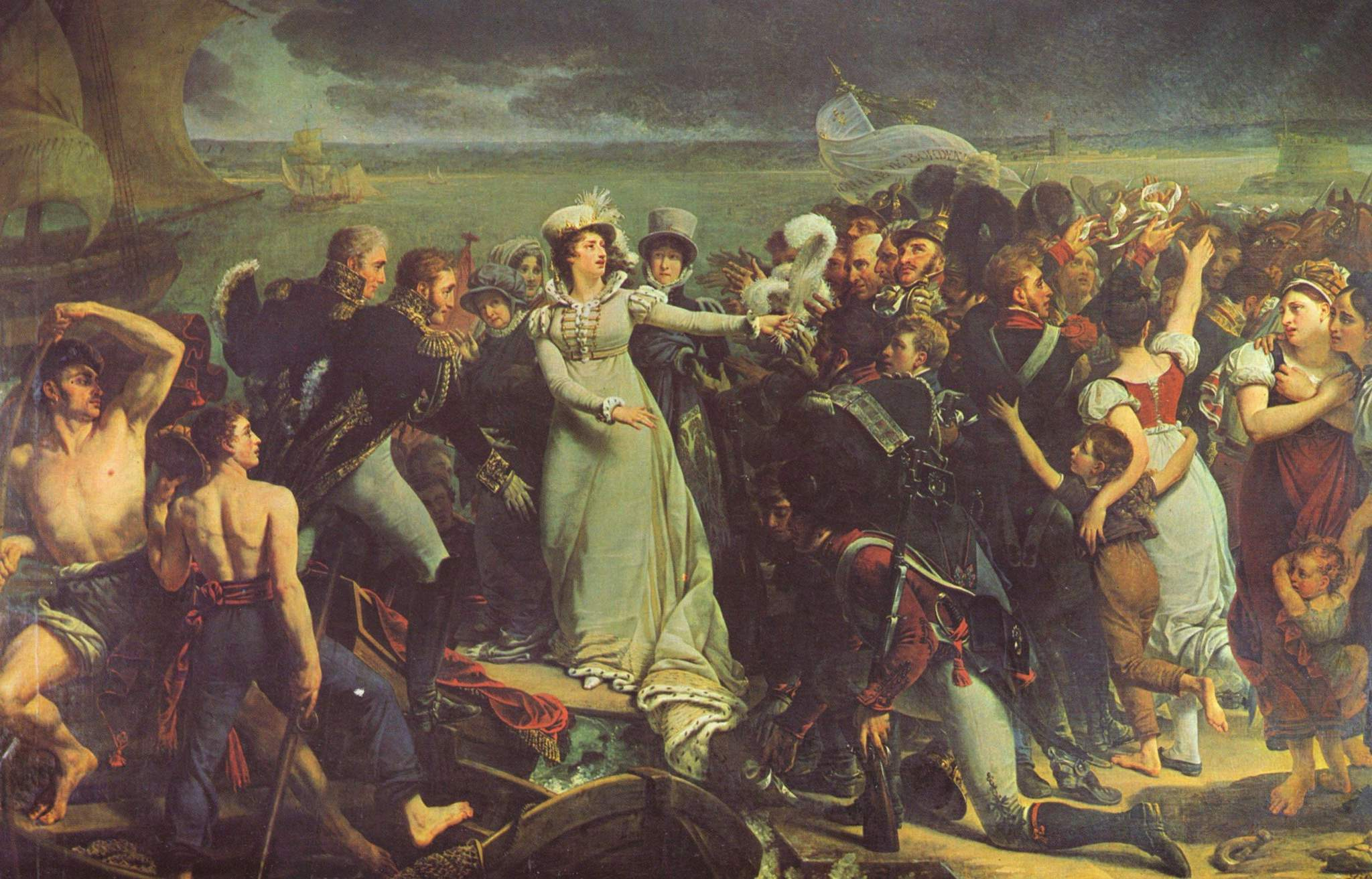1819 Arrival of the Duchess of Angoulême in Pauillac by Antoine-Jean Gros  (location