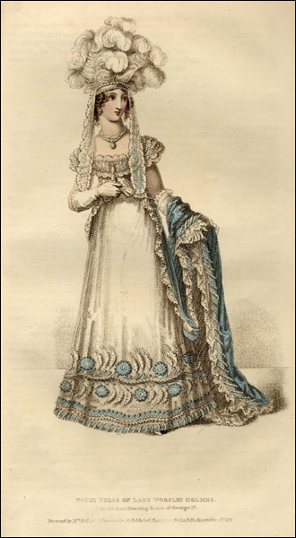 1820 Lady Worsley's court dress La Belle Assemblée July 1820