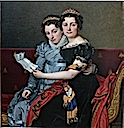 1821 Charlotte (l) and Zénaïde (r) Bonaparte by Jacques Louis David (Getty Museum, Los Angeles California)