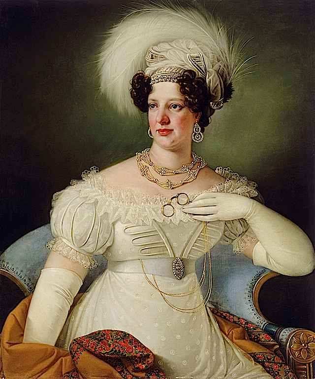 1822 Cecilia D'Auersperg by Giuseppe Tominz (National Gallery of Slovenia) despot, left zit alone