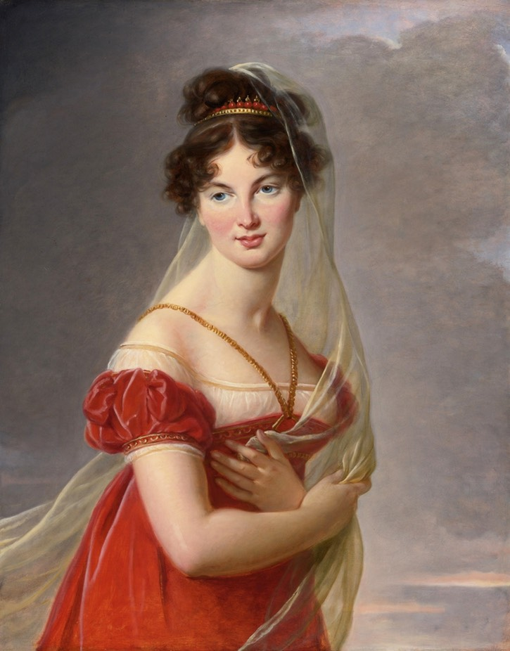 1824 Aglae Angelique Gabrielle de Gramont (1787-1842), grand-daughter of the duchesse de Polignac, by Élisabeth-Louise Vigée-Lebrun (auctioned by Sotheby's) Wm