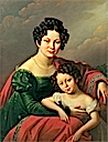 1824 Countess of Dyhrn with her child by Józef Oleszkiewicz (Lviv National Art gallery - Lviv Ukraine)