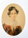 1825 Anna A. Andre, née Olenia, Comtesse de Lanzhenron by Petr Feodorovich Sokolov (location unknown to gogm)