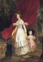 1830 Great Princess Elena Pavlovna with Daughter Maria by Karl Brullov (State Russian Museum, St. Petersburg)