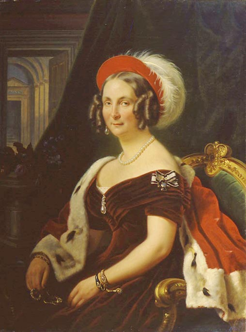 1830s frederica of hanover by franz kr ger location unknown to gogm grand ladies gogm - Meubelen cottage berg ...