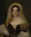 1830s Veiled Olga Naryshkina (Potocki) by ? (location unknown to gogm) Wm