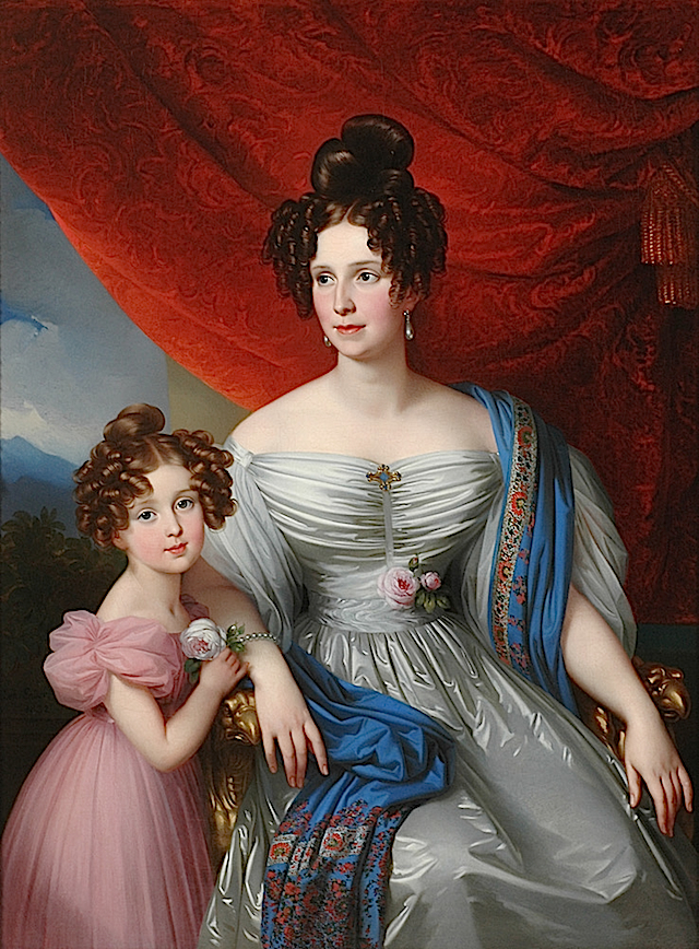 1832 Baroness Joel v. Joelson with daughter by Johann Nepomuk Ender (Boris Wilnitsky)