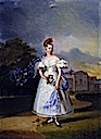 1832 Queen Victoria when a girl by Alexandre-Jean Dubois Drahonet (Royal collection)