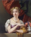 1833 Georgiana Charlotte Quin, née Spencer (1794-1823), by Henry Pierce Bone (auctioned by Sotheby's) Wm