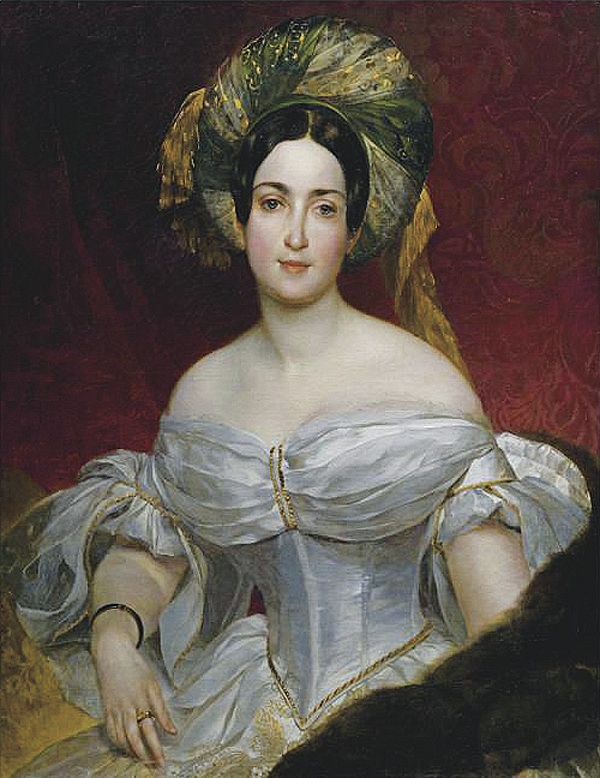 1837 Aurora Demidova by Karl Brullov (location unknown to gogm)