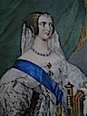 1837 Queen Victoria color print etched and tinted by George Howard from Steve Conrad archive