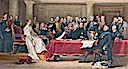 1837 Queen Victoria presiding at her first Privy Council after David Wilkie
