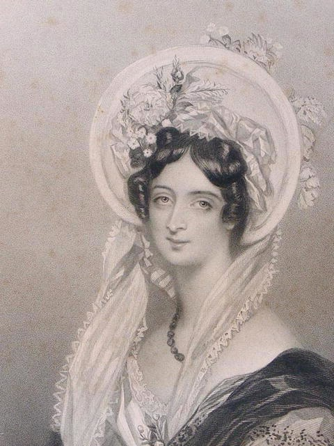 1838 Anne Frances, Countess of Falmouth by Alfred Edward Chalon (Amulet Art & Antiques)