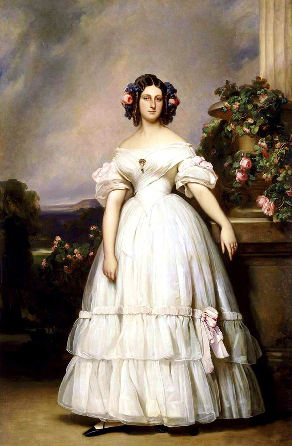 1838 Clémentine Prinzessin von Sachsen-Coburg und Gotha (1817-1907), née Princesse d'Orléans by Franz Xaver Winterhalter (private collection) UPGRADE the lost gallery