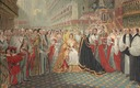 1838 Print image of Queen Victoria's coronation after a painting by Edmund Thomas Paris