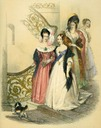 1838 Queen Victoria going out with Ladies
