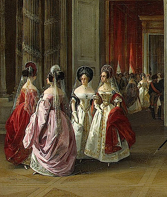 1838 Ladies from the Blazon Room of the Winter Palace by Adolphe Ladurner (State Hermitage Museum - St. Petersburg Russia) X1.5