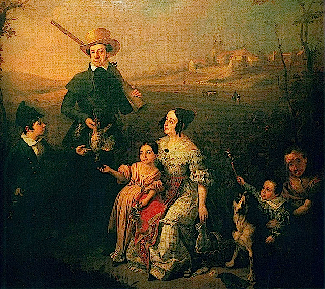 1838 marqués de Arco Hermoso y su familia by Antonio Cabral Bejarano (private collection)
