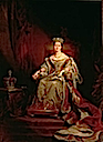 1838 Queen Victoria on the Throne by Sir George Hayter (Guildhall Art Gallery, London)