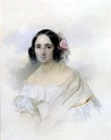 1839 Anna A. Andre, née Olenina, Comtesse de Lanzhenron by Vladimir Ivanovich Hau (location unknown to gogm)