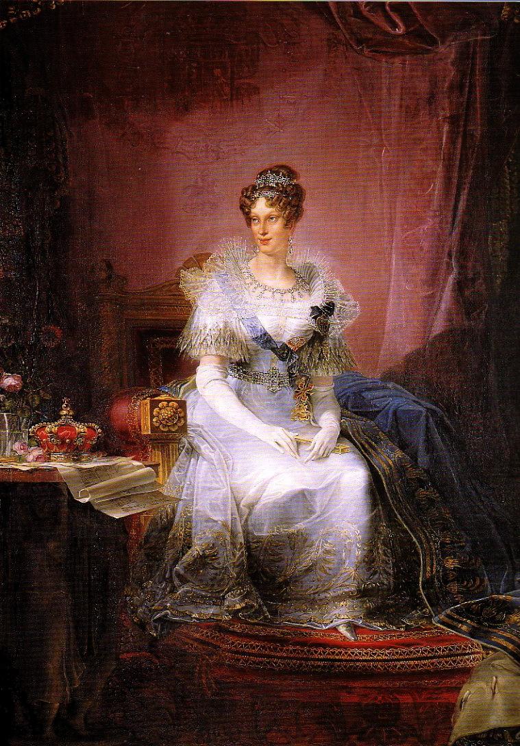 1839 Maria Luigia Duchess Of Parma By Giovan Battista