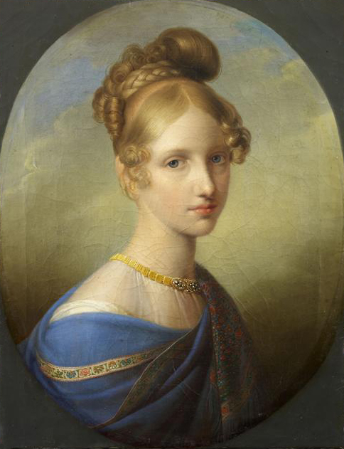 1839 or 1840 Princesse de Salerne, âgée de dix-sept ans by Johann Peter Kraft (Musée Condé - Chantilly France) Photo - Thierry Ollivier