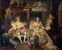 1840 Christian VIII (1786-1848) and Queen Caroline Amalie (1796-1881) in Coronation Robes by Joseph Desire Court (Statens Museum for Kunst - København, Denmark) Wm X 1.5