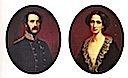 1840s (estimated) King Christian IX and Queen Louise of Denmark as Prince and Princess