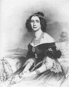 1842 Maria Anna, Queen of Saxony print from Stieler closeup