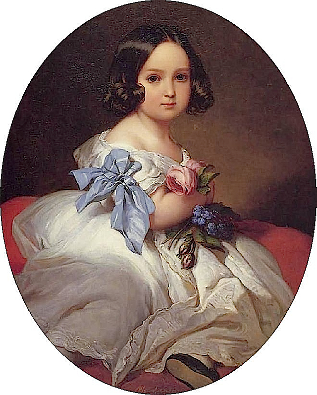1842 Princess Charlotte of Belgium by Franz Winterhalter (Royal Collection)