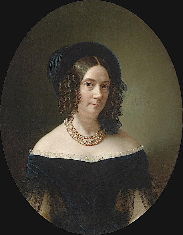 1843 Archduchess Dorothea, third wife of archduke Joseph Palatine of Hungary by ? (location unknown to gogm) From the lost gallery's photostream on flickr