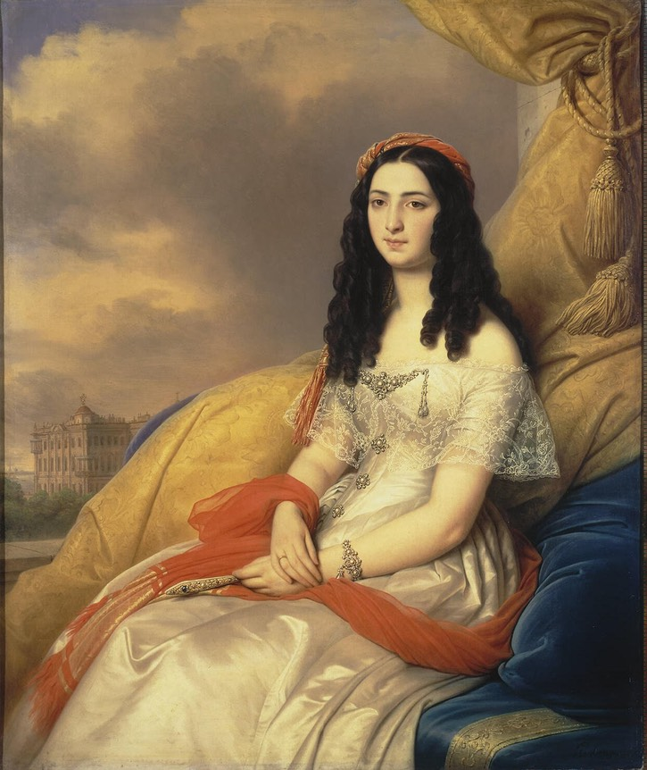 1844 Countess Dash by Carl von Steuben (State Hermitage Museum - St. Petersburg, Russia)