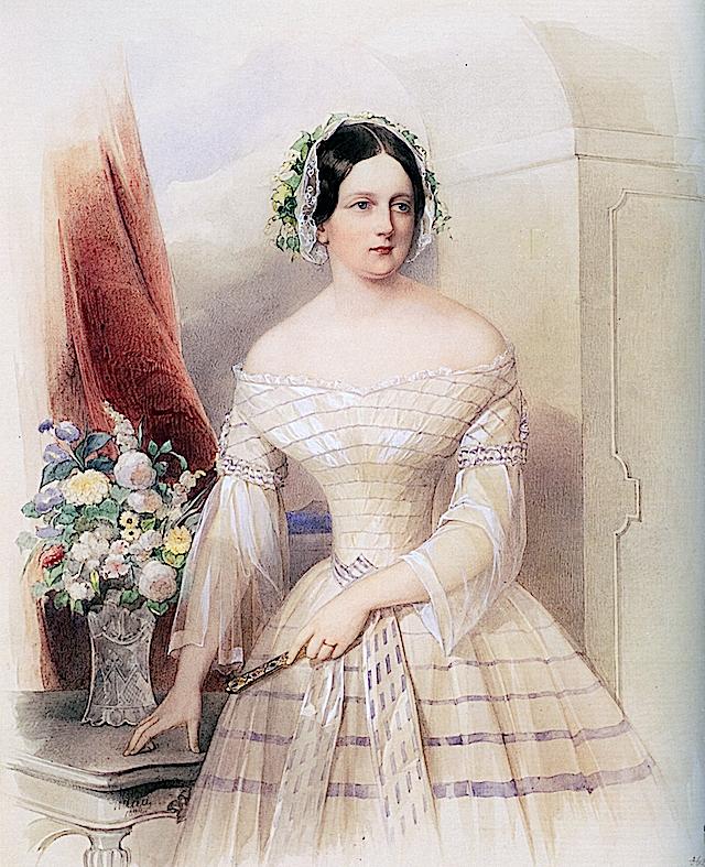 1844 Елизавета Михайловна Владимира Гау (Государственный Русский музей - Санкт-Петербург Россия) Wm