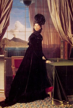 1814 Queen Caroline Murat by Jean-Auguste-Dominique Ingres (private collection)
