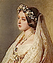 1847 Queen Victoria in wedding veil by Franz Xaver Winterhalter (Royal collection)