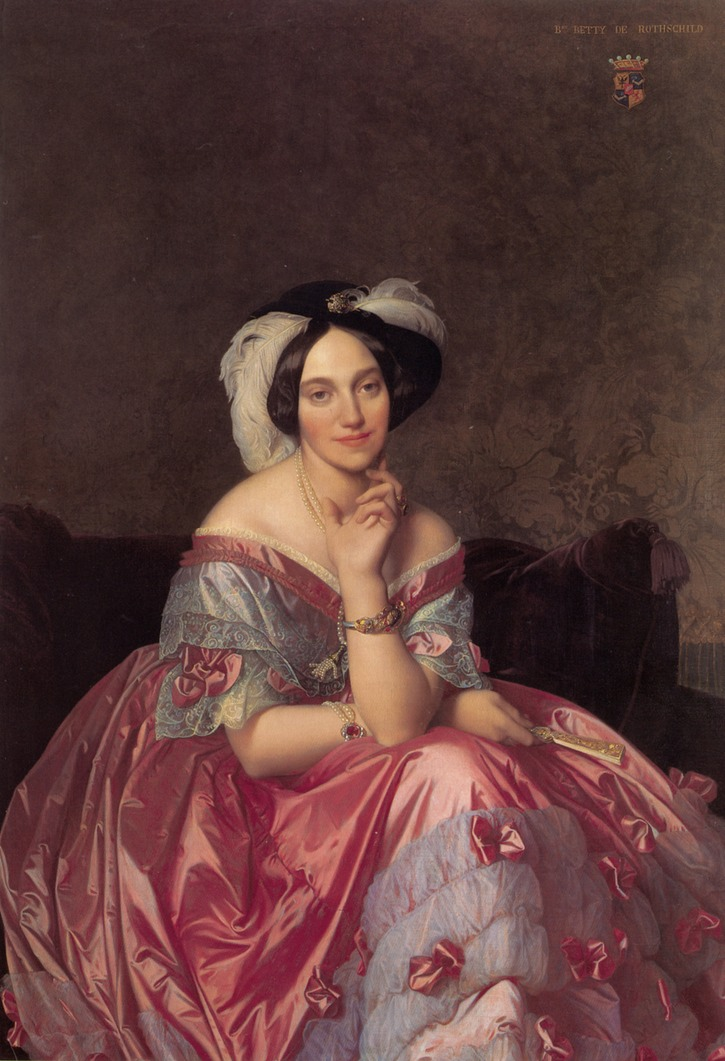1848 Baronne James de Rothschild, née Betty von Rothschild by Jean Auguste Dominique Ingres (private collection)