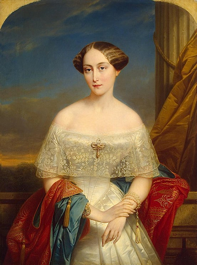 1848 Grand Duchess Olga Nikolayevna by Nicaise de Keyser (Hermitage)